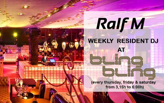 Ralf M Resident DJ Bling Bling