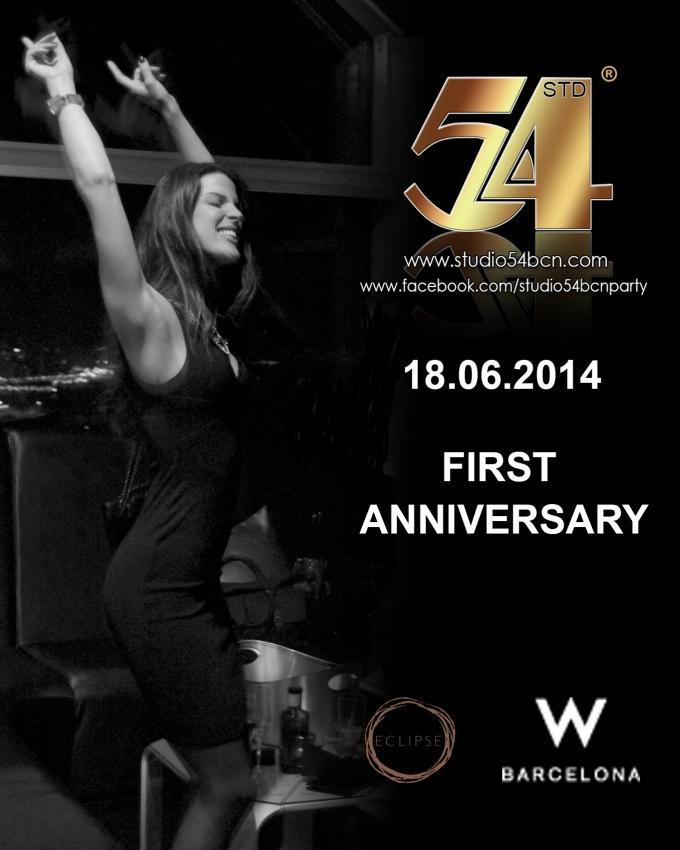 First Anniversary Studio 54 BCN